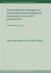 Disentangling the heterogeneous relationsship between background characteristics and a child\'s placement risk